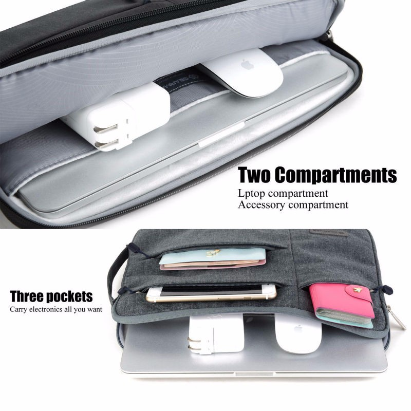 """Carrying Laptop Sleeve Pouch Case Bag For Various 10.1/"""" 13.3/"""" Lenovo Yoga Tablet"""