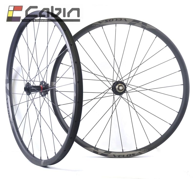 MTB XC/AM hookless ruote in carbonio con Novatec D791/792 mozzi, 29 pollici asimmetrico ruote, tubeless compatibile, aumentare versione