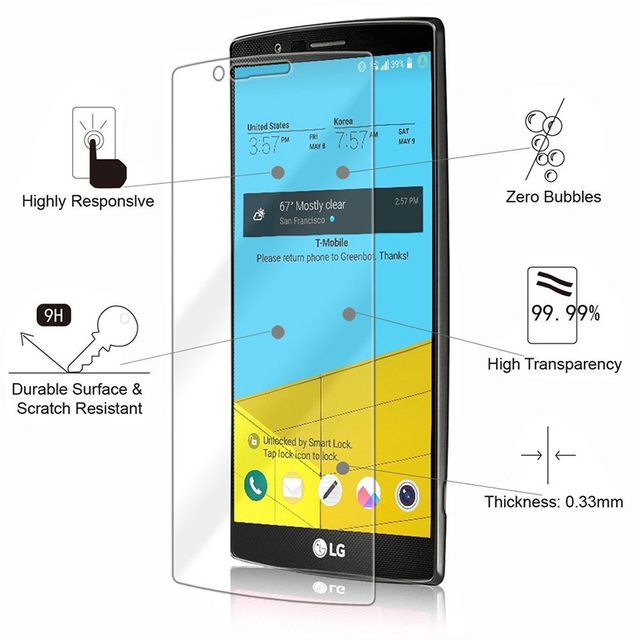 Screen Protector For LG K3 K4 K5 K7 K8 K10 2016 2017 Tempered Glass on LG  K10 Pro Stylus 3 Stylo 3 X Power 2 Screen Glass Film-in Phone Screen