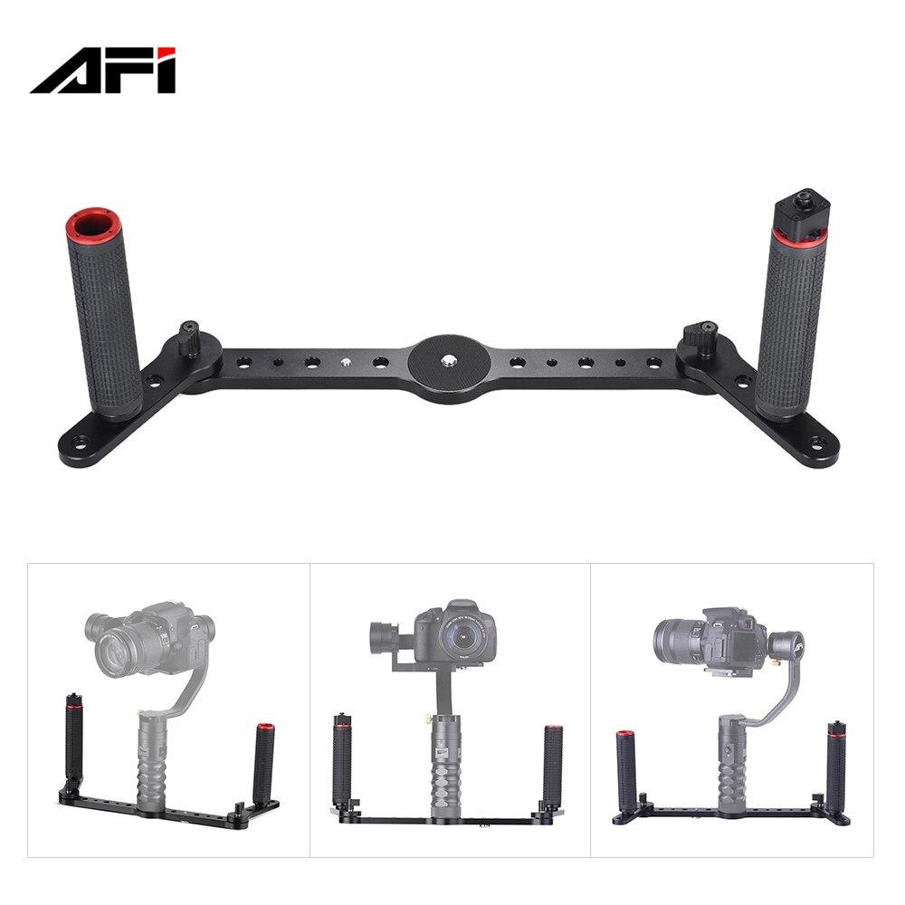 AFI 3SD-1A Dual Grip Gimbal Handle mount with Joystick Control Aluminum Alloy Material for AFI VS-3SD 3-Axis Gimbal Stabilizer