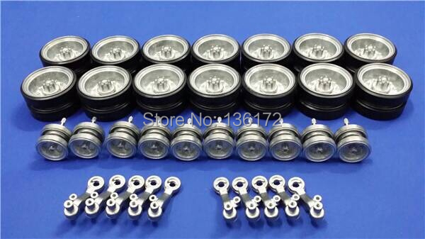 купить Henglong 3838 3838-1 Snow Leopard 1/16 RC tank upgrade parts metal wheels set онлайн