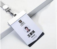 Badges Work Card Customized Chest Name Logo Mark Badges Staff Worker Identity Card With Snap Clamp