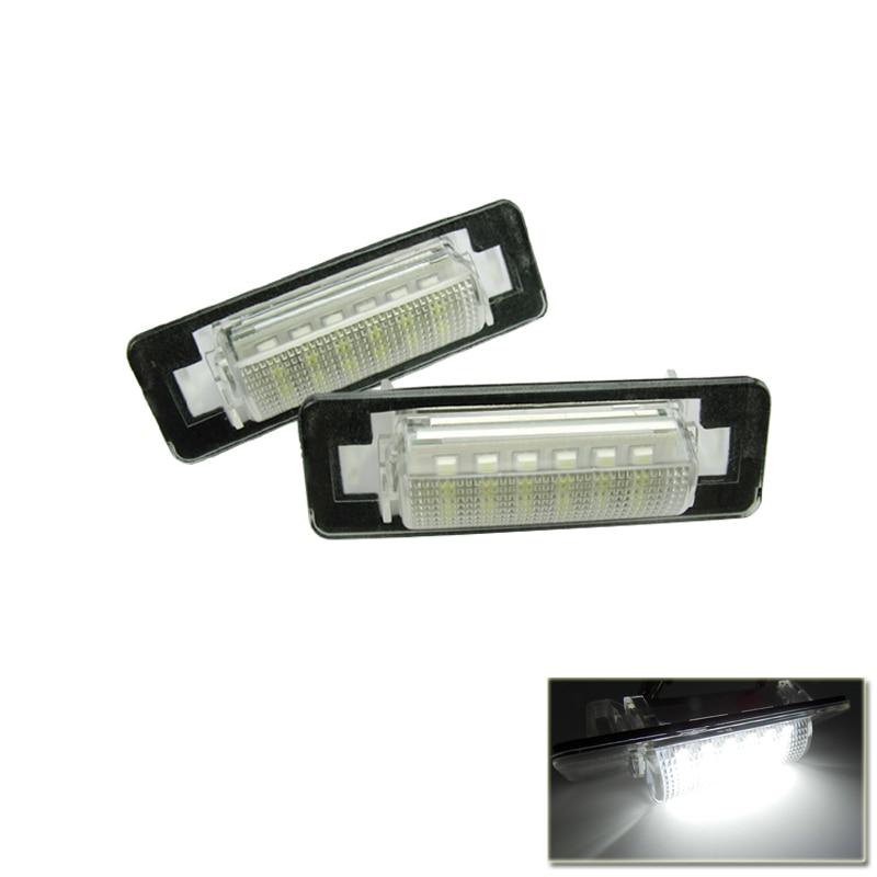 ①2 unids 18smd LED Marcos de matrícula Luz Kits para el Benz w210 ...