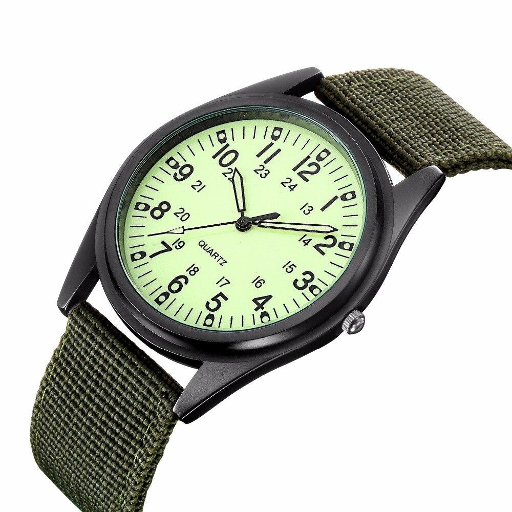 New listing MGORKINA Men Watch Luxury Brand Watches Quartz Clock Fashion Canvas Belts Watch