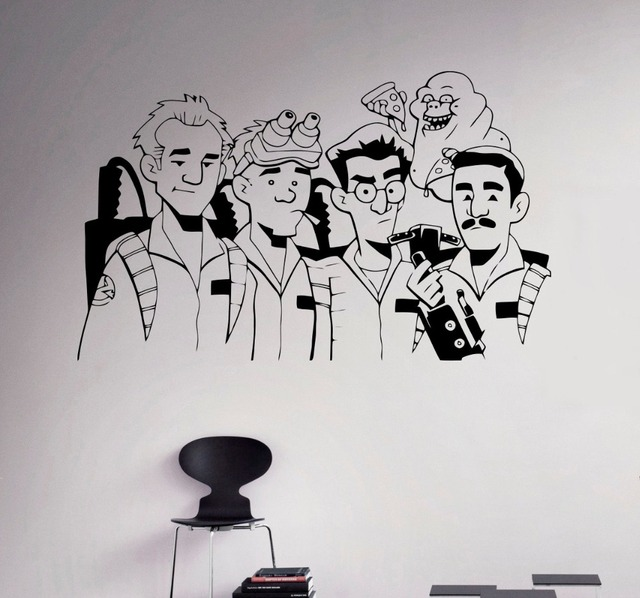 Ghostbusters Supernatural Wall Sticker Art Design Comics Characters Series  Wall Mural Declas Home BOYS Bedroom Special