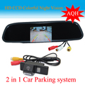"HD Video Auto Parking Monitor,  Reversing CCD Car Rear View Camera for NISSAN QASHQAI  X-TRAILWith 4.3"" Car Rearview Mirror"