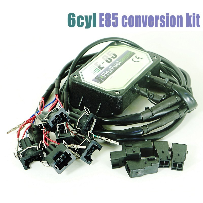 DHL Free E85 Flex Fuel Conversion Kit 6cyl With Cold Start Asst.,Temp.sensor,biofuel E85, Ethanol Car, Bioethanol Converter