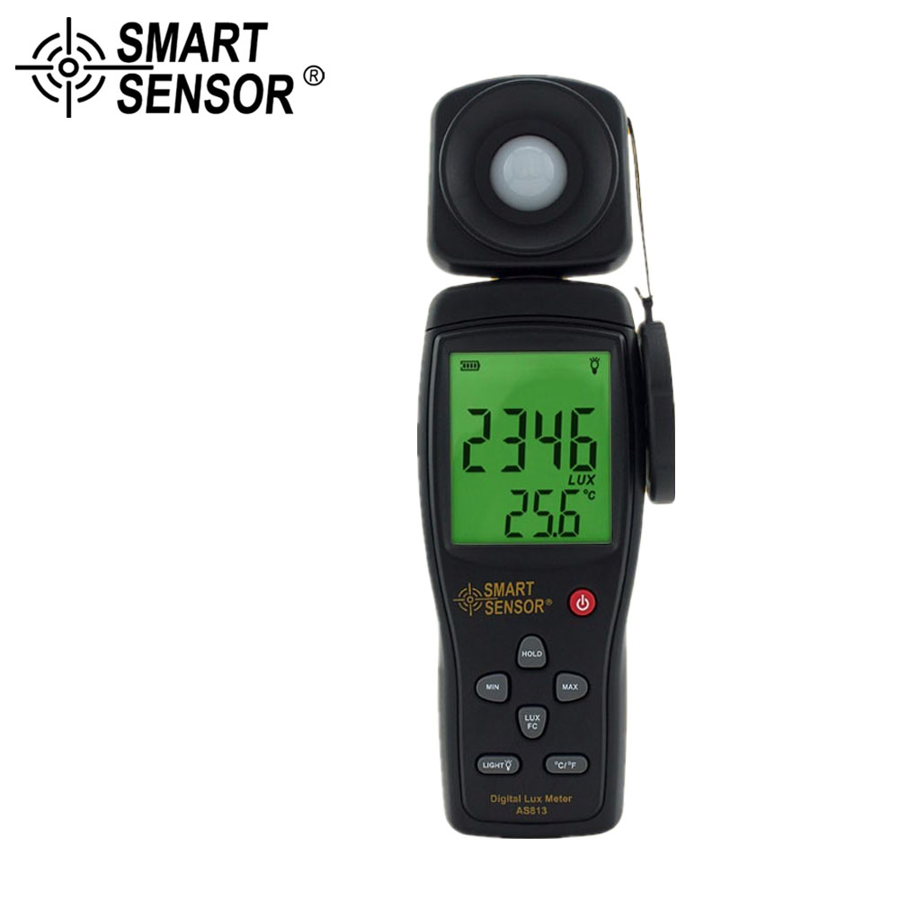 SMART SENSOR Lux Meter Digital Light Meter Illuminometer Measuring Tester Luxmeter Lux/FC Light Meter Luminometer Photometer 1pc precision 200 000 lux light meter digital light meter luxmeter lux fc meter luminometer photometer tester