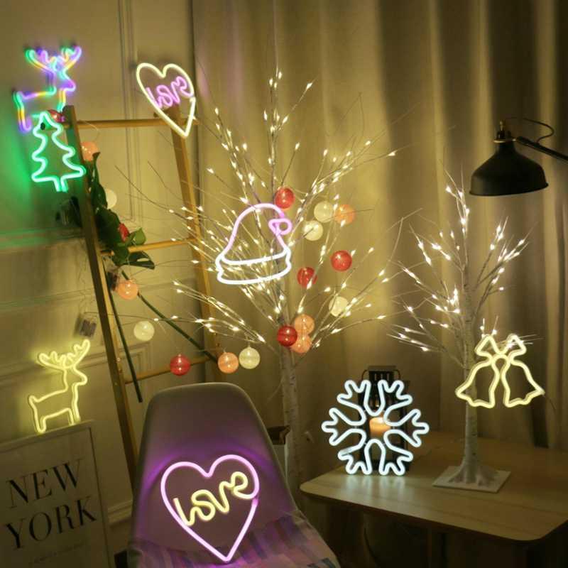 Creativo amor en el corazón Led neón señal de luz para vacaciones Navidad Fiesta boda decoraciones Bar hogar Decoración de la pared iluminación de moda
