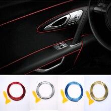 Araba Iç Dekorasyon Şeritler Kalıp Trim Dashboard Kapı Kenar Evrensel BMW Lada Araba Aksesuarları Şerit Styling Sticker