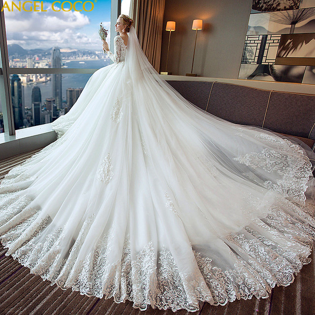 Pregnancy Maternity Wedding Dress Long Sleeve V Neck Maternity