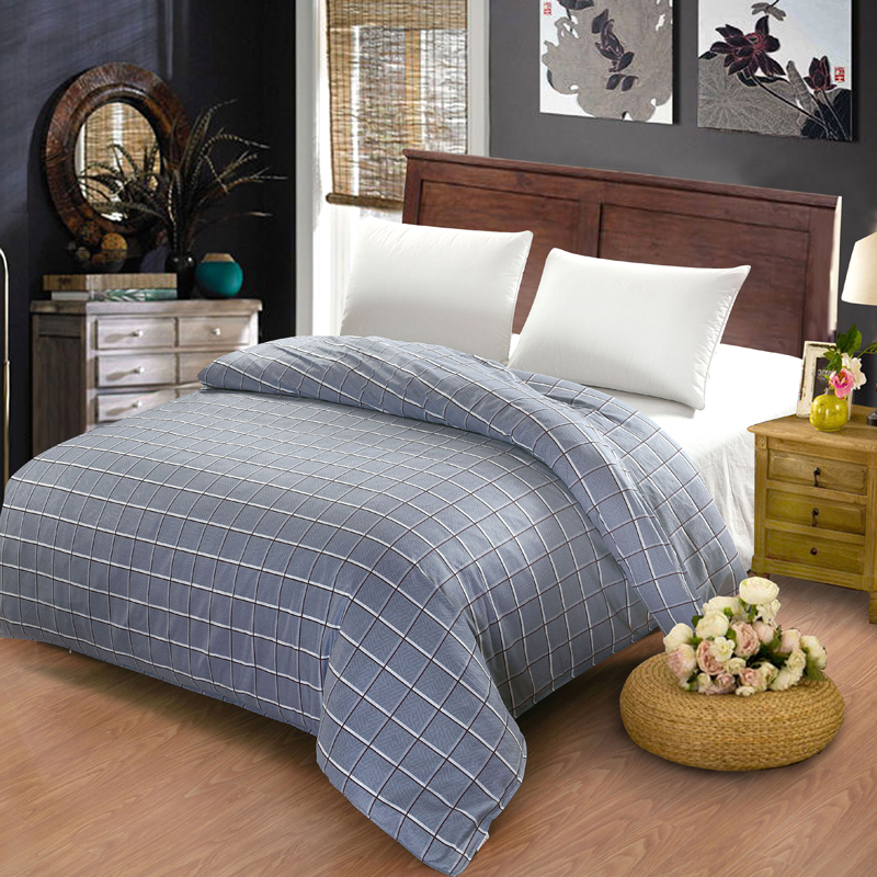 100 cotton duvet cover twin full queen size gray striped grid cartoon red plaid gray - Queen Size Duvet Cover