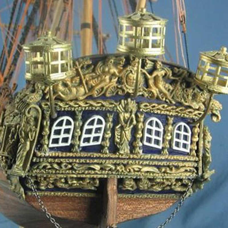 ספינות מודל בקנה מידה 1:50 עץ ערכת מודל ספינת למבוגרים סירות ילדים משחקים חינוכיים Diy עץ 3d Cut הלייזר קרוליין