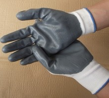 Free transport slip-resistant 13 needles Natural Latex working glove Grey colour and wear-resistant to guard your hand security