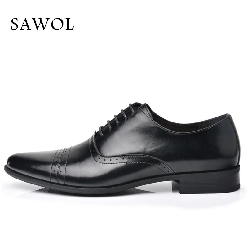 Se Marca Flats Cavalheiro Couro Clássico Dos Sapatos Negócios Formais Sawol De Black Oxfords Homens Primavera Genuíno Vestem Outono Casuais zAqYBvn1wx