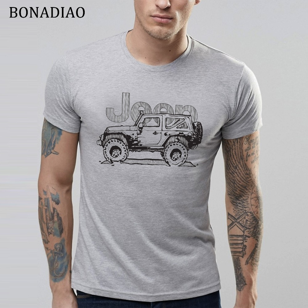 Retro Jeep   T     Shirt   Man Leisure Vintage Car Unique Design   T     Shirt   100% Cotton Custom Homme Tee   Shirt