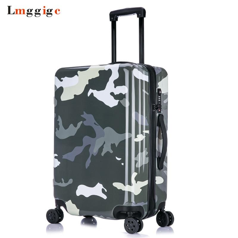 20 дюймов девушка прекрасный трав багаж, девушка конфеты сращивания цвет hardcase багаж тележки на универсальных колесах - 3