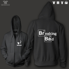 Free shipping Breaking bad logo say my name men unisex heavy hooded sweatshirt zip up hoodie 360g/m2 organic cotton fleece