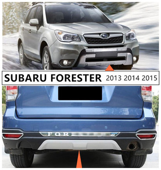 For SUBARU FORESTER 2013 2014 2015 Front & Rear Bumper Guard Plate Protector Anti-impact High Quality ABS Auto Accessories image