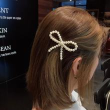 Pearl Hairpin Female Bow Bangs Clip Lady Spring Side Top Bangs Clip Jewelry G0328 цена