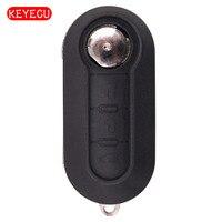 Keyecu Afstandsbediening Sleutelhanger 3 Button 433 MHz ID46 voor Fiat 500L Bravo Ducato 500L MPV (2010-Heden) 300