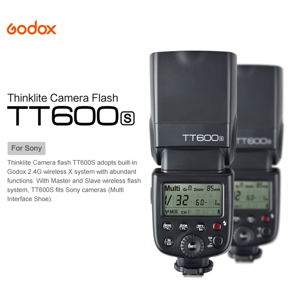 Godox TT600S GN60 2.4G Wireless Camera HSS Flash Speedlite for Sony A7 A7S A7R A7 II A6000 A6300 A6500 A58 A99 DSLR godox tt600s flash speedlite for sony multi interface mi shoe cameras a7 a7s a7r a7 ii a6300 etc