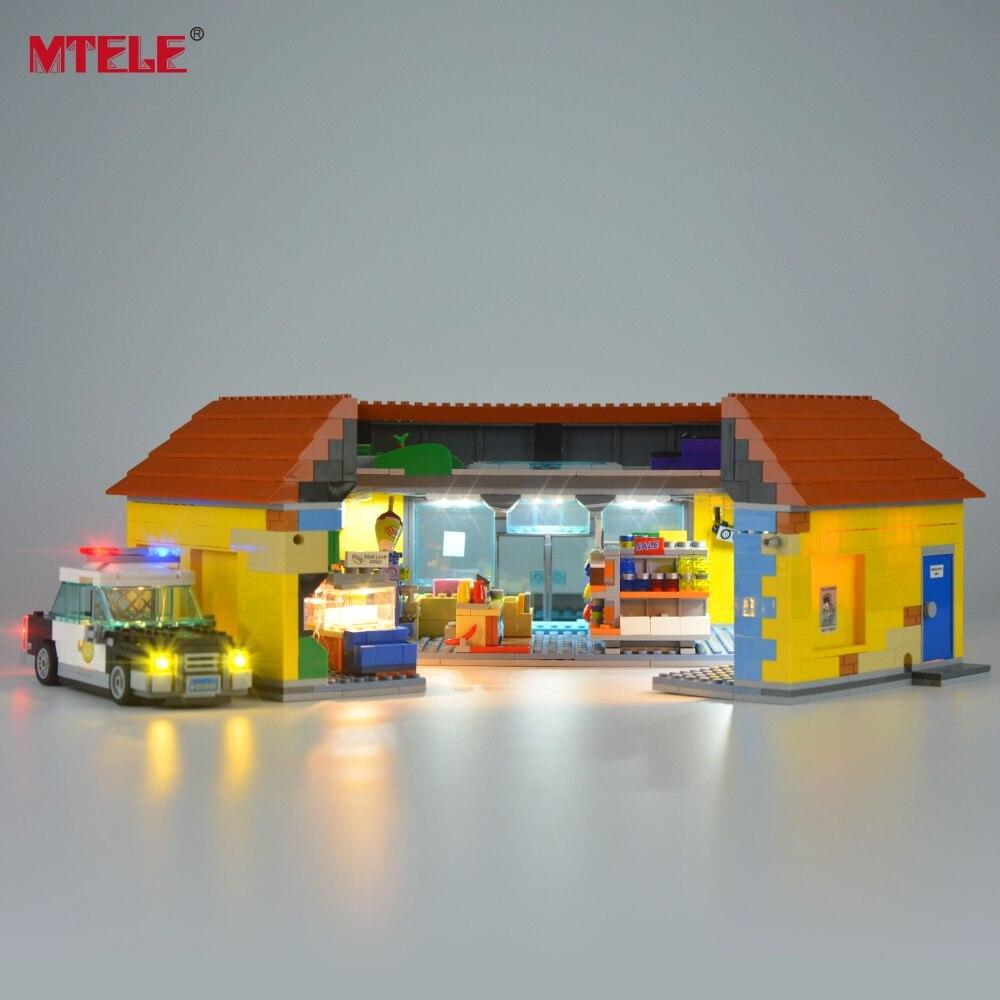 kwik-e-mart loja bloco de construção iluminação kit