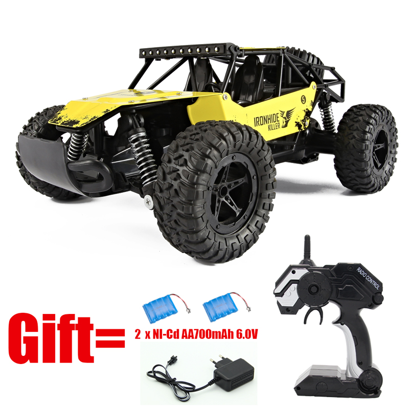 2 4G 1 16 High Speed SUV CAR Electric RC Cars With 2PCS Battery 4CH Hummer