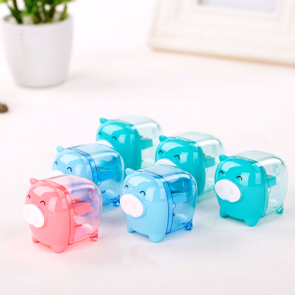 Купить с кэшбэком Deli Pencil Sharpeners Cute Kawaii Mini Candy Colored Pencil Sharpener Korean Kids Toy Gift School Chancery Supplies Stationery