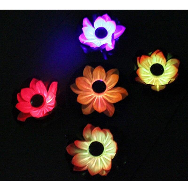 Floating Solar Power Light LED Energy Saving Flower Lamp For Garden Pool Pond Fountain Decoration ALI88