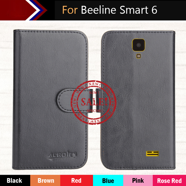 "Hot!! In Stock Beeline Smart 6 Case 4"" 6 Colors Ultra-thin Leather Exclusive For Beeline Smart 6 Phone Cover+Tracking"