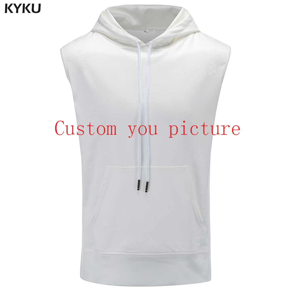 premium selection authorized site special section US $17.98 10% OFF|KYKU Customize Sleeveless Hoodies Men Customer Picture  Custom Sweatshirt S 6XL 3d Print Mens Clothing Summer 2018 Casual Tops-in  ...