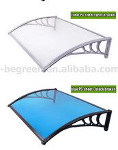YP80360 80x360cm 31 5x140in roof top garden decorationplastic shed sun shelter overehead doorplastic awnings