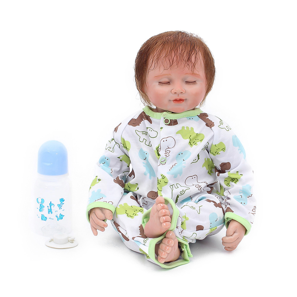Realista BeBes Reborn Doll soft Cotton Body 50cm Silicone Reborn Baby Dolls Lifelike Newborn Baby Gift Juguetes Babies ToysRealista BeBes Reborn Doll soft Cotton Body 50cm Silicone Reborn Baby Dolls Lifelike Newborn Baby Gift Juguetes Babies Toys