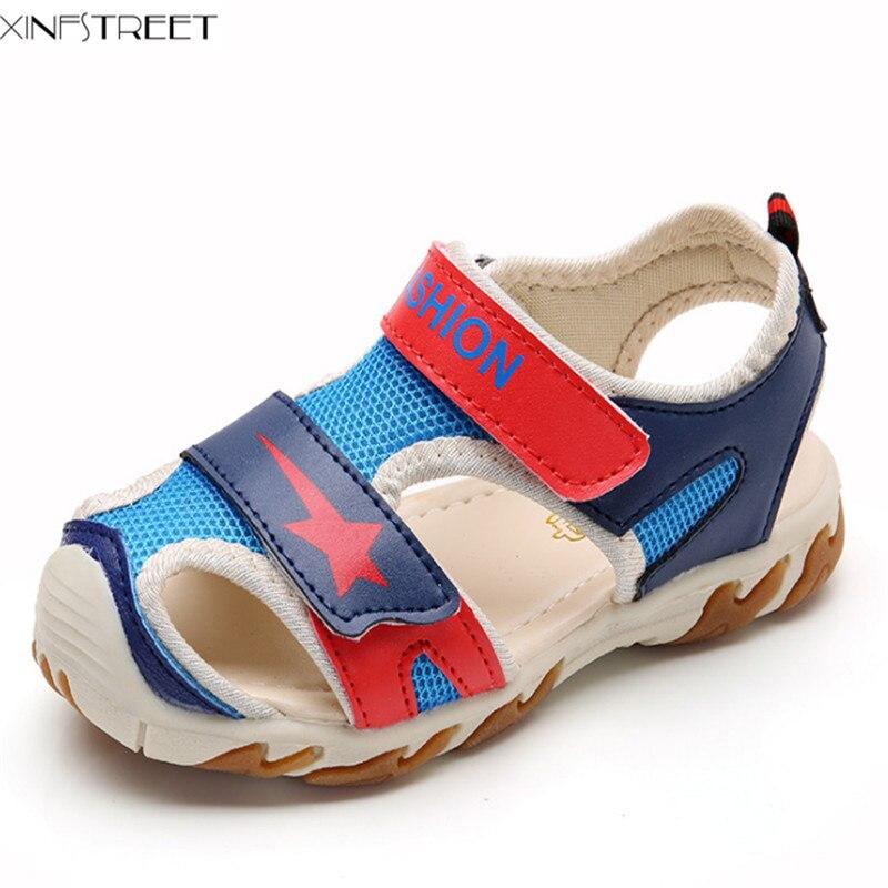 Xinfstreet Baby Boys Girls Sandals Kids Shoes Summer Soft Breathable Children Beach Sandals 1-7 Years