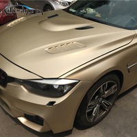 Champagne Golden Full Car Body Wrap Ice Matte Chrome Vinyl Chrome Matt Film Vehicle Decorative Wrapping Stickers