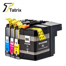 4pk lc539xl lc535xl bk c/m/y cartucho de tinta compatible para brother dcp-j100/dcp-j105/mfc-j200 inkbenefit completo