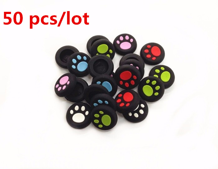 50pcs Silicone Analog Controller Thumb Stick Grips Caps Covers thumbstick grips for Xbox360 One/PS3/PS4 Controller PS4 Pro Slim