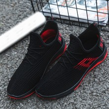 CHAMSGEND Summer Men's Breathable Casual Mesh Sports Shoes Lightweight Casual Sports Trend Non-slip Running Shoes