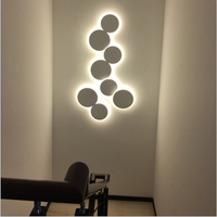 Modern Creative eclips ceiling lamp stairs aisle corridor background bedroom bedside round LED Ceiling Light
