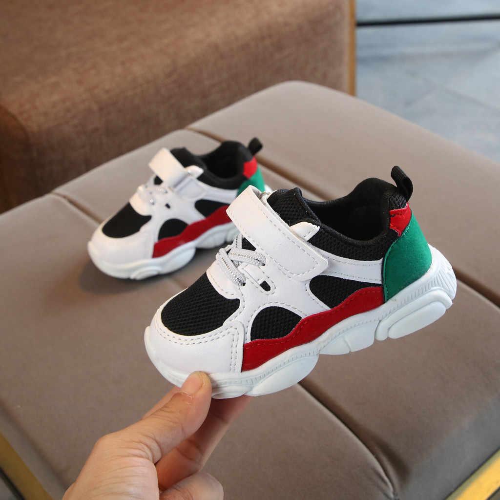 Toddler Çocuk Bebek Kız Erkek Karikatür Ayı Taban Örgü Koşu spor ayakkabılar Sneakers