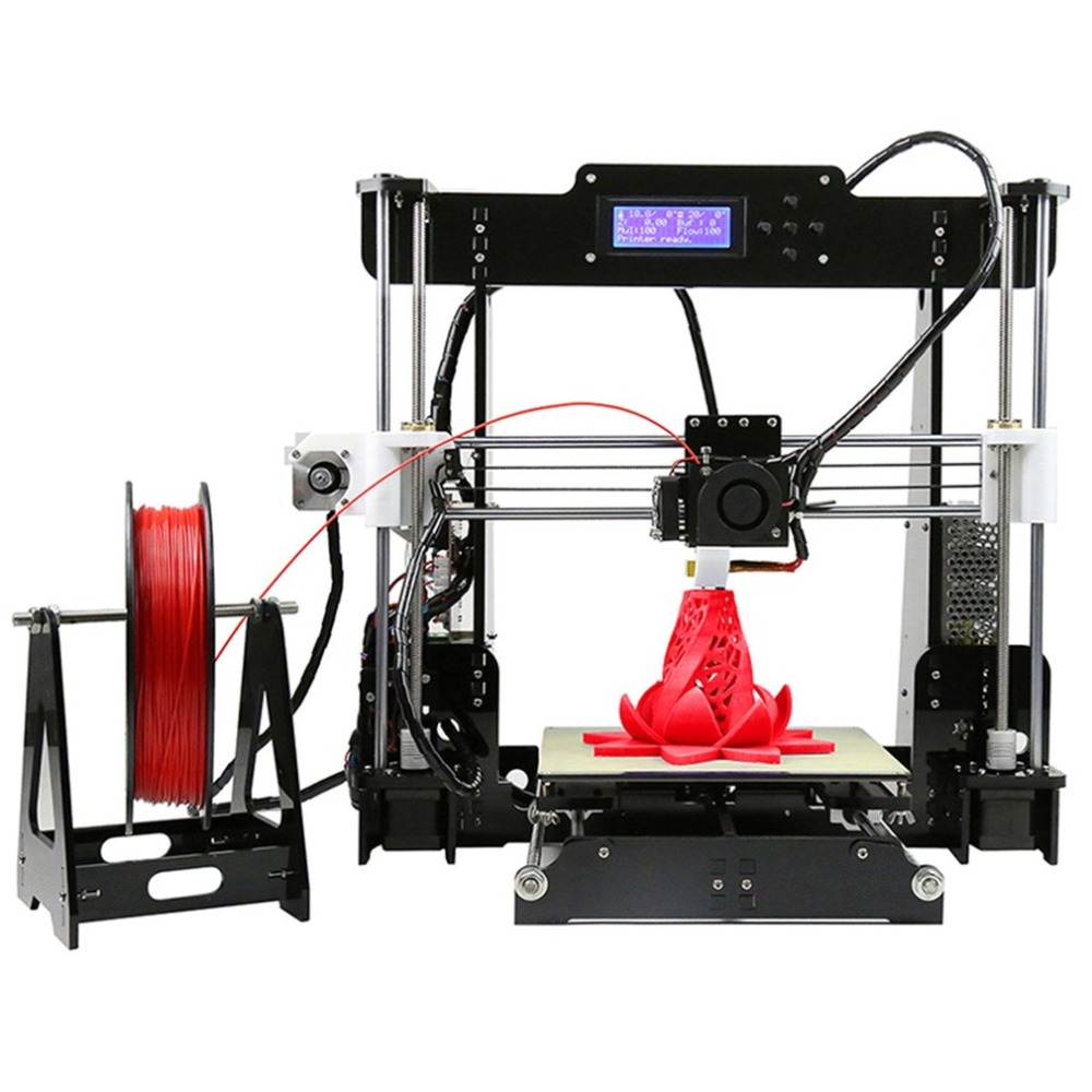 Anet A8 3D Printer LCD Screen High Precision Reprap Impressora Desktop Acrylic Kit DIY Large Printing Size Self Assembly for Win anet a8 high accuracy desktop 3d printer 100mm s diy 3d printing kit large printing size support abs pla wood pva pp luminescent