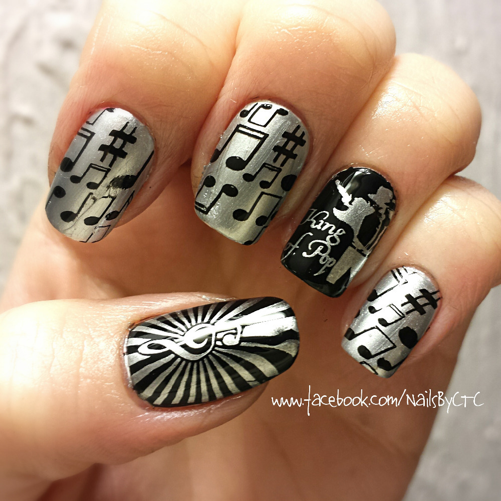 Nail Art Ideas stamp nail art : Music Theme Nail Art Stamping Template Image Plate BORN PRETTY ...