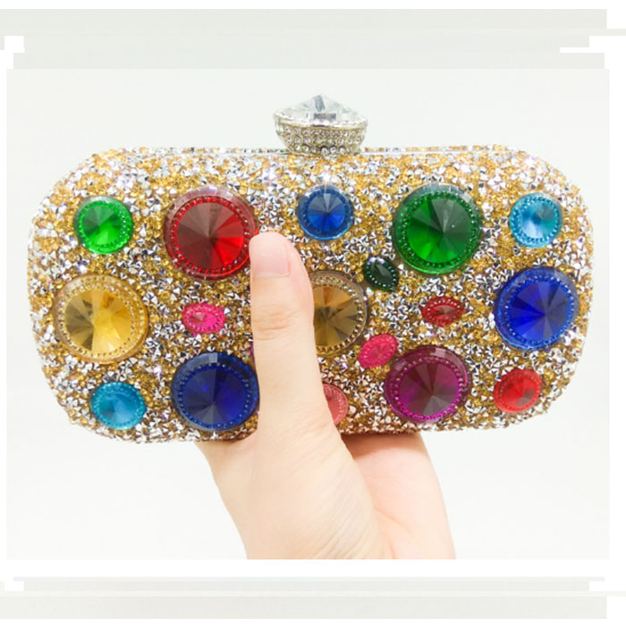 Luxury crystal evening purse Handcraft rhinestones party clutch bags soiree sac pochette women wedding bride pouch bags luxury crystal pearl clutch party evening bags women pochette soiree purse crystal bead wedding pouch bags green pink blue red