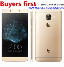 Original Letv LeEco Le Max 2 X820 4G Mobile Phone Snapdragon 820 Quad Core 5.7″ 2560×1440 4/6GB RAM 32/64GB ROM 21MP smartphone
