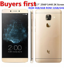 Original Letv LeEco Le Max 2 X820 4G Mobile Phone Snapdragon 820 Quad Core 5.7″ 2560×1440 4/6GB RAM 32/64GB ROM 21MP smartphone