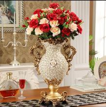 Creative vintage resin European vase home decoration handicraft