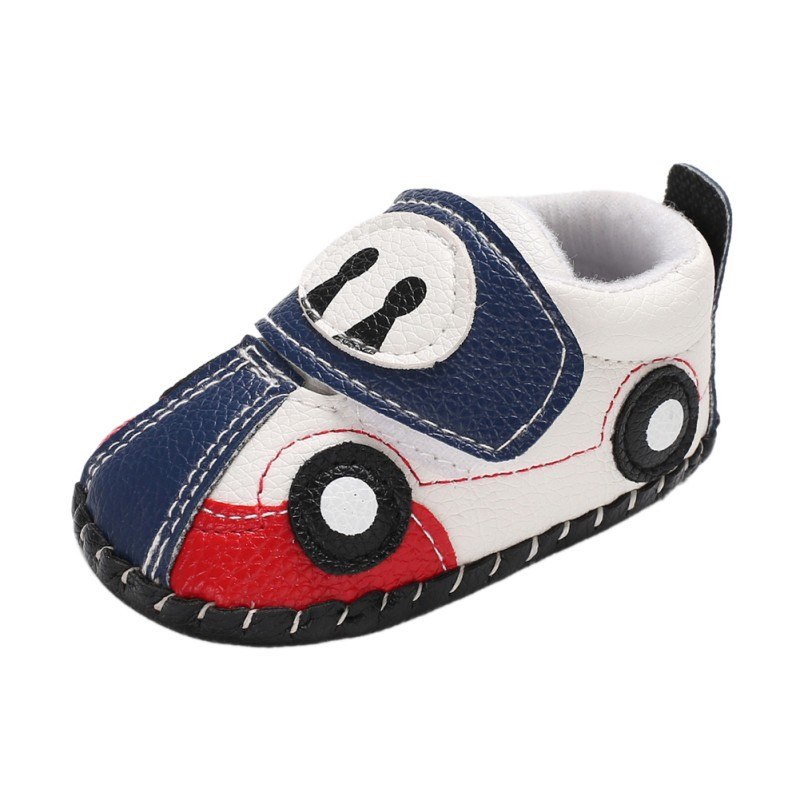 Baby Shoes Baby Boys Infant Shoes Soft PU Leather Skid-Proof 0-6 7-12 13-18 First Walkers