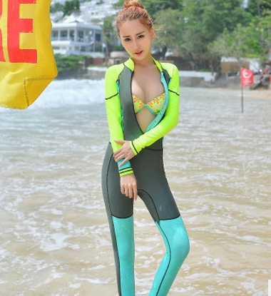 Women Lycra Wetsuit Scuba Diving Suit For Spearfishing Suit Sunscreen Swimming Jellyfish Outdoor Quick - drying Surfing Clothing