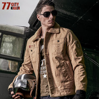 77City Killer Men Army Green Outerwear Tactical Jackets New Military Winter Bomber Jackets Mens Thicken Fur